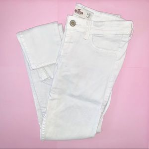 Hollister Low Rise Super Skinny Jeans White